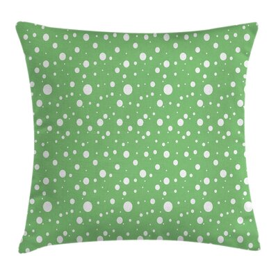 Retro Big Dots Backdrop Square Pillow Cover Size: 24 x 24