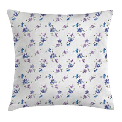 Garden Bridal Romantic Buds Square Pillow Cover Size: 18 x 18