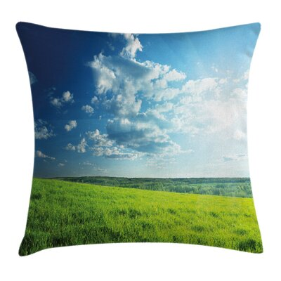 Country Meadow Valley Cloud Sun Pillow Cover Size: 20 x 20