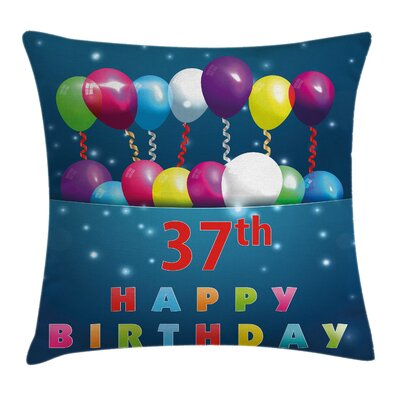 Party Cheerful Event Middle Age Square Pillow Cover Size: 16 x 16