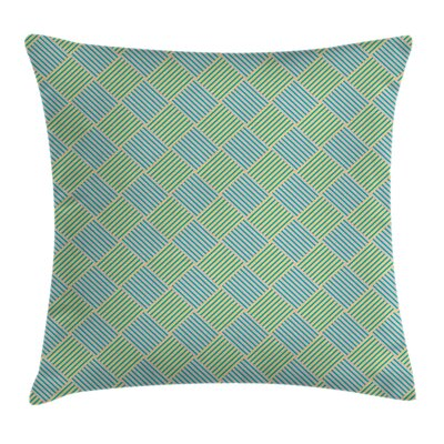 Geometric Hexagonal Diamonds Pillow Cover Size: 16 x 16