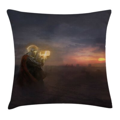 Fantasy General Battle Scene Pillow Cover Size: 20 x 20
