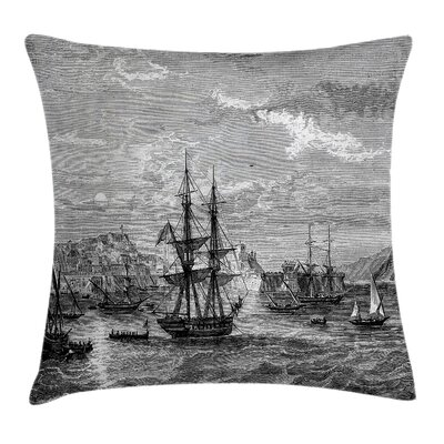 Antique History of France Elba Pillow Cover Size: 18 x 18