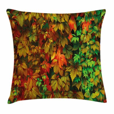 Fall Decor Colorful Leafage Square Pillow Cover Size: 18 x 18