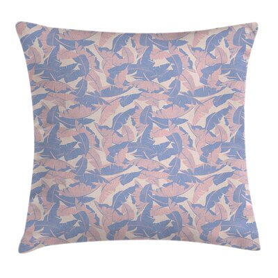 Tropical Palm Leaves Soft Tones Pillow Cover Size: 24 x 24