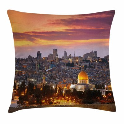 Landscape Old City Jerusalem Square Pillow Cover Size: 24 x 24