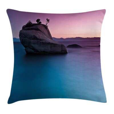 Exotic Bonsai Rock Lake Tahoe Pillow Cover Size: 16 x 16