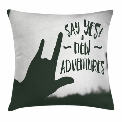 Inspirational Quote Love Sign Square Pillow Cover Size: 24 x 24