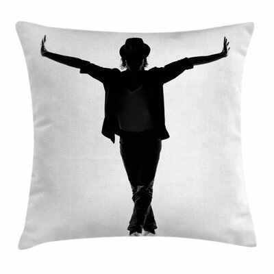 Michael Jackson Young Man Star Square Pillow Cover Size: 16