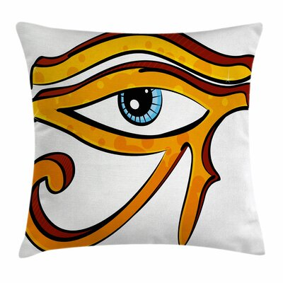 Eye Ancient Horus Eye Egyptian Square Pillow Cover Size: 24 x 24