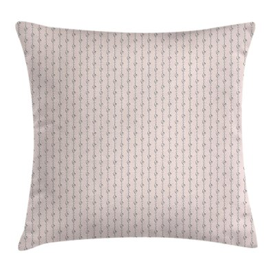 Love Stripe Like Sketchy Hearts Square Pillow Cover Size: 20 x 20