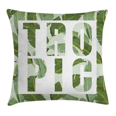 Green Perennial Shrubs Dreamy Pillow Cover Size: 16 x 16