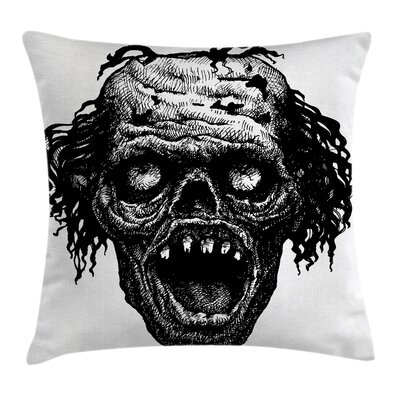 Halloween Zombie Evil Dead Man Pillow Cover Size: 16 x 16