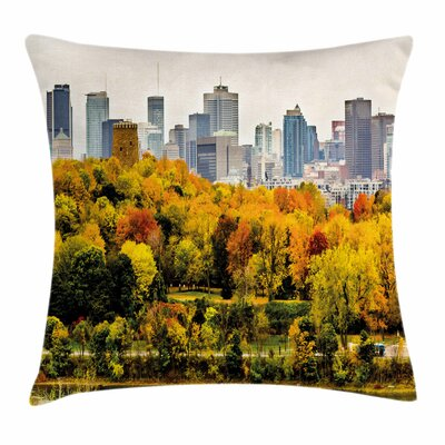 Fall Decor Montreal in Autumn Square Pillow Cover Size: 18 x 18