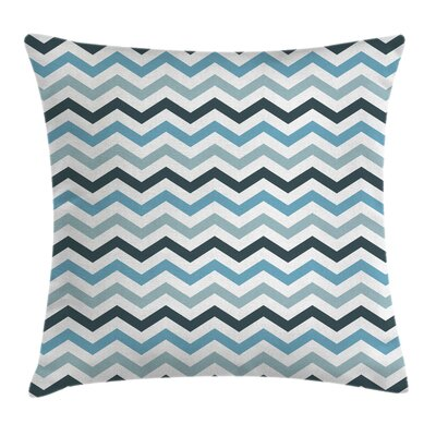 Ocean Zig Zag Chevron Line Square Pillow Cover Size: 16 x 16