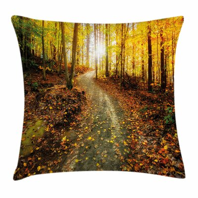 Fall Decor Early Morning Woods Square Pillow Cover Size: 18 x 18