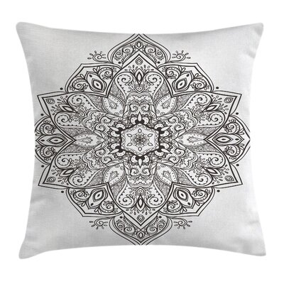 Mandala Eastern Psychedelic Pillow Cover Size: 18 x 18