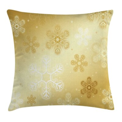 Christmas Snowflakes Noel Yule Square Pillow Cover Size: 18 x 18