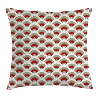 Seashell Oriental Scallop Art Pillow Cover Size: 24 x 24