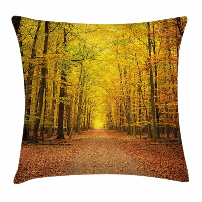 Fall Decor Seasonal Scenic Park Square Pillow Cover Size: 16 x 16