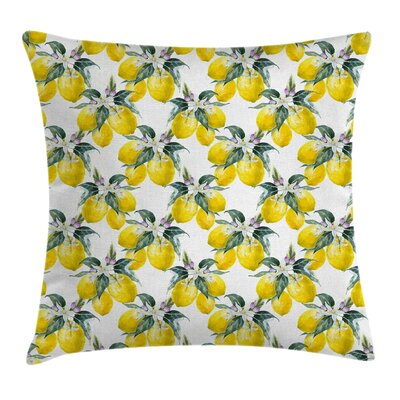 Bohemian Summer Season Fruits Pillow Cover Size: 16 x 16