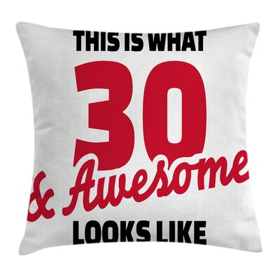 Motivation Quote Pillow Cover Size: 24 x 24