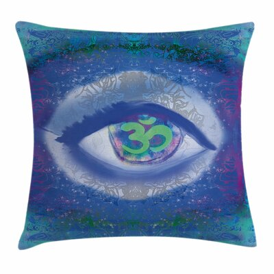 Eye Mystical Sign Mandala Zen Square Pillow Cover Size: 18 x 18