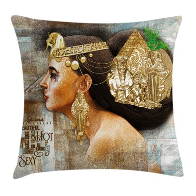 Egyptian Queen Cleopatra Jewels Pillow Cover Size: 16 x 16