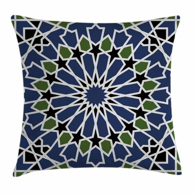 Arabic Arabesque Orient Mandala Square Pillow Cover Size: 16 x 16