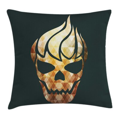 Gothic Skull Fractal Effects Pillow Cover Size: 18 x 18