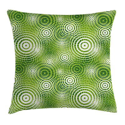 Abstract Circular Rounded Eco Pillow Cover Size: 16 x 16