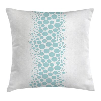 Under the Sea Circle Bubbles Pillow Cover Size: 20 x 20