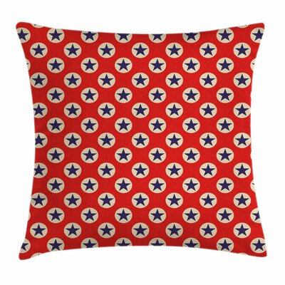Primitive Country Stars Dots Square Pillow Cover Size: 18 x 18