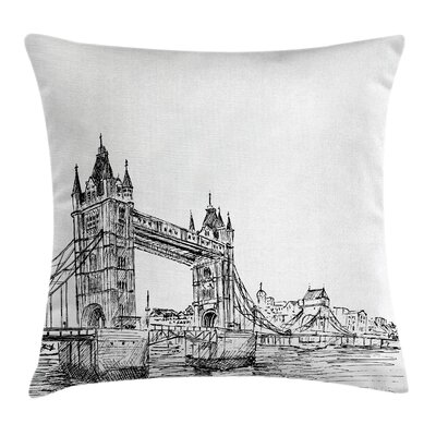 London Tower Bridge UK Scenery Pillow Cover Size: 16 x 16