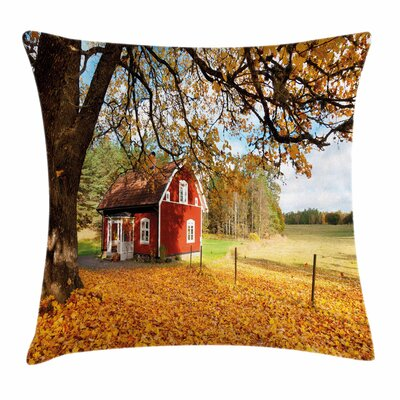 Fall Decor Swedish House Square Pillow Cover Size: 16 x 16