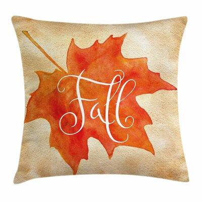 Fall Decor Artsy Maple Leaf Square Pillow Cover Size: 20 x 20