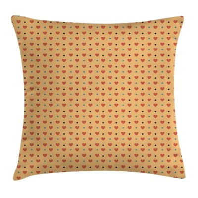 Romantic Valentines Day Hearts Pillow Cover Size: 16 x 16