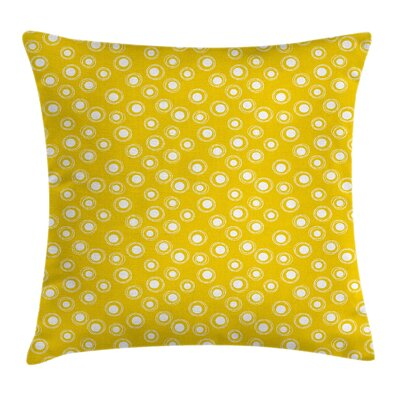 Golden Flower Windmill Dots Pillow Cover Size: 18 x 18