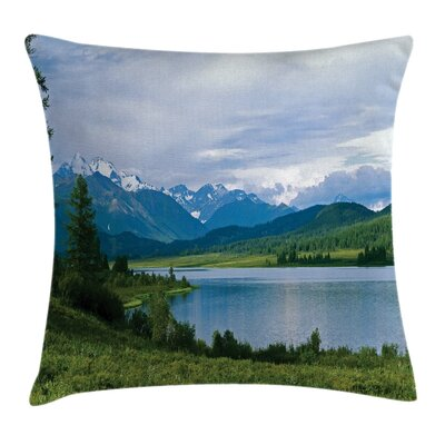 Mountain Snowy Belukha Peaks Pillow Cover Size: 24