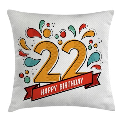 Modern Invitation Square Pillow Cover Size: 16 x 16