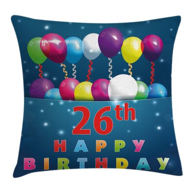 Birthday Cute Event Square Pillow Cover Size: 20 x 20