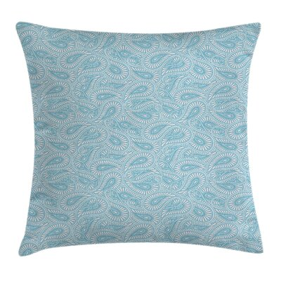 Arabic Ethnic Paisley Pattern Pillow Cover Size: 16 x 16
