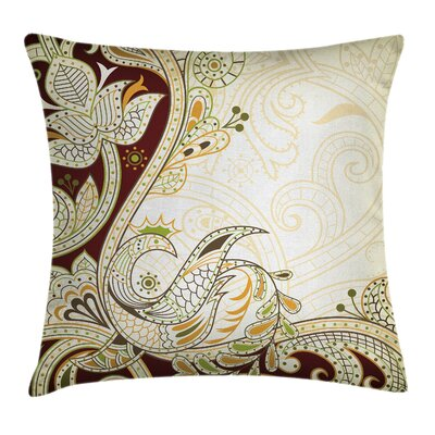 Ethnic Oriental Middle Eastern Pillow Cover Size: 24 x 24