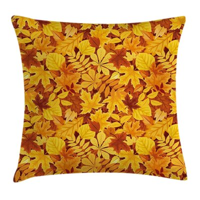 Tree Shady Fall Oak Maple Leaf Square Pillow Cover Size: 16 x 16