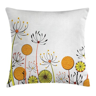 Garden Umbelifers Cute Petals Pillow Cover Size: 24 x 24