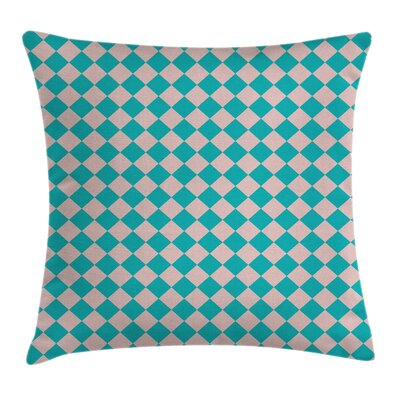 Geometrical Diamond Details Pillow Cover Size: 24 x 24