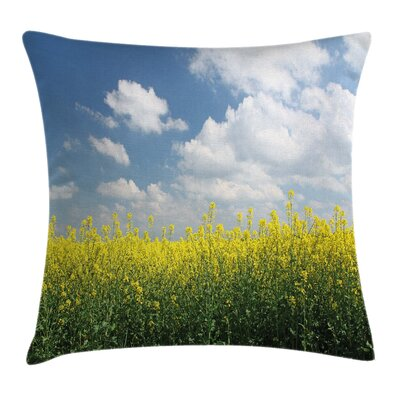 Country Rapeseed Field Germany Pillow Cover Size: 18 x 18