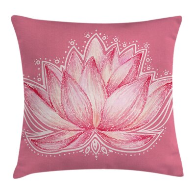 Chakra Lotus Meditation Yoga Pillow Cover Size: 24 x 24