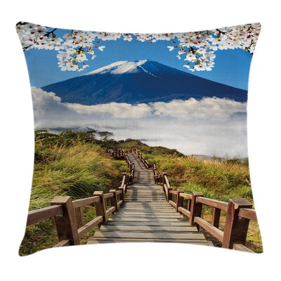 Outdoor Mountain Valley Road Pillow Cover Size: 16 x 16