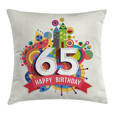Festive Fun Figures Celebration Square Pillow Cover Size: 16 x 16
